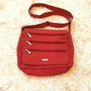 Handbags - Baggalini Quilted Crossbody Orange Bag